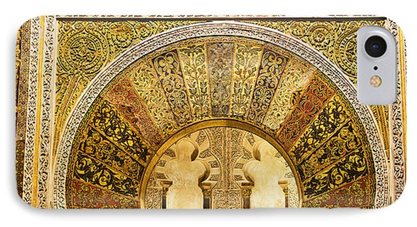 Ornate Mezquita Mihrab In Cordoba Phone Case by Artur Bogacki
