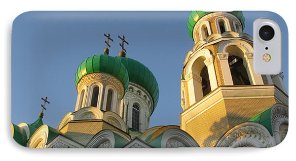 Orthodox Church Of Sts Michael And Constantine- Vilnius Lithuania IPhone Case by Ausra Huntington nee Paulauskaite