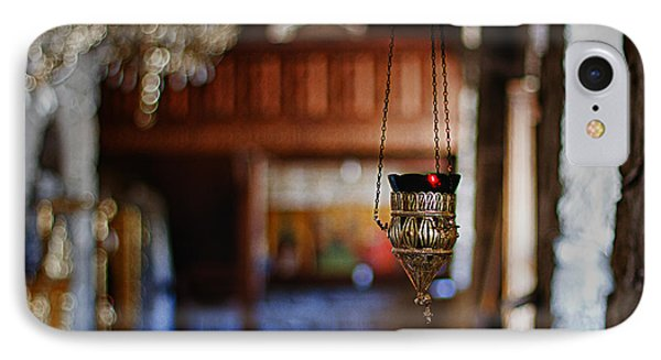Orthodox Church Oil Candle Phone Case by Stelios Kleanthous