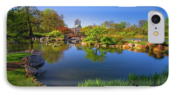 Osaka Garden Pond IPhone Case by Jonah  Anderson
