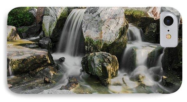Osaka Garden Waterfall IPhone Case by Jonah  Anderson