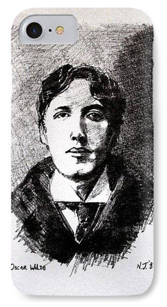 Oscar Wilde IPhone Case by John  Nolan