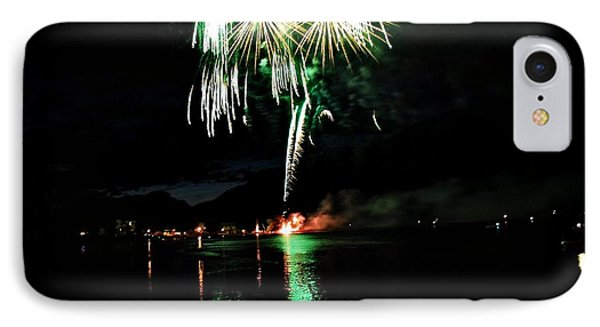 Osoyoos Lake Lights Up Phone Case by Don Mann