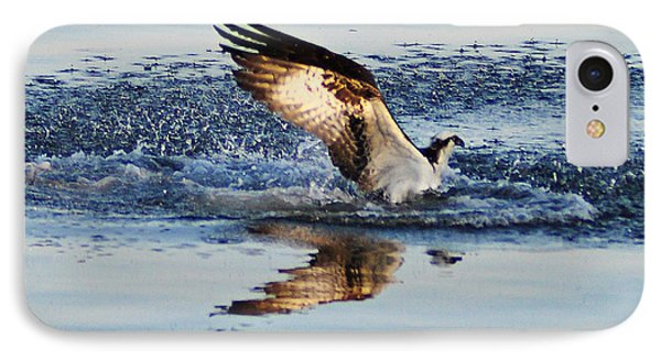 Osprey Crashing The Water Phone Case by Bill Cannon