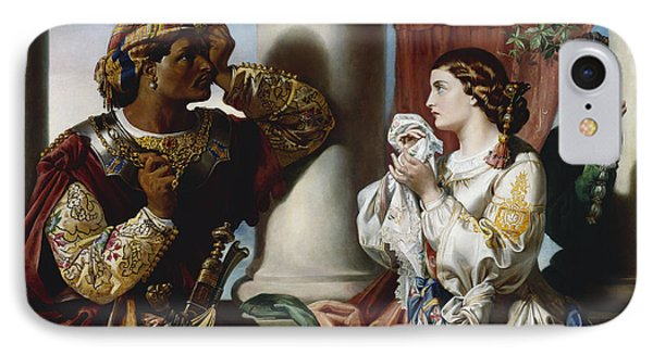 Othello And Desdemona IPhone Case by Daniel Maclise
