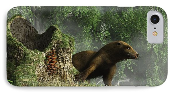 Otter By A Stump IPhone Case