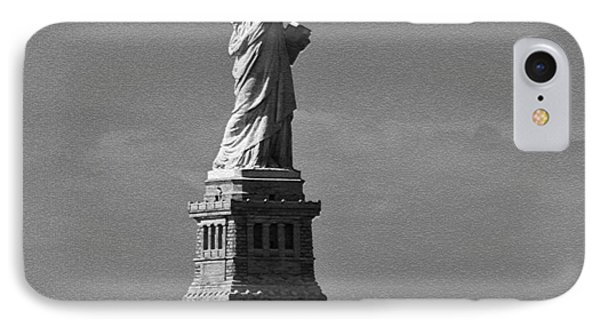 IPhone Case featuring the photograph Our Lady Of The Harbor by Nancy De Flon