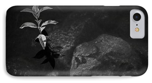 Out Of The Water Comes Shadows Bw Phone Case by Karol Livote
