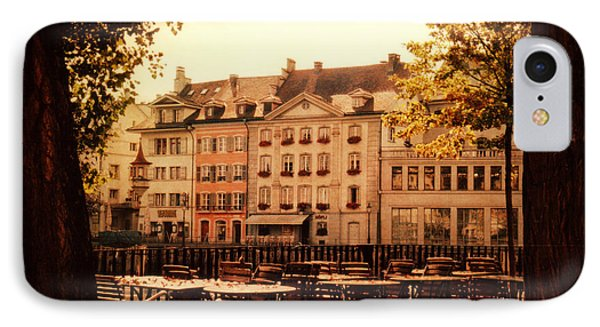 Outdoor Cafe In Lucerne Switzerland  IPhone Case by Susanne Van Hulst