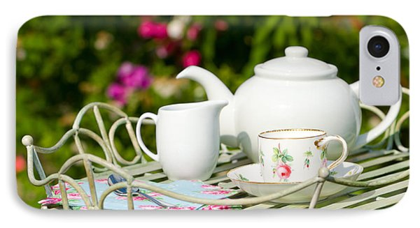 Outdoor Tea Party IPhone Case by Amanda Elwell