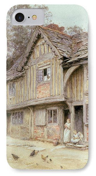 Outside A Timbered Cottage Phone Case by Helen Allingham
