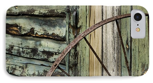 IPhone Case featuring the photograph Outside Of An Old Barn by Nancy De Flon