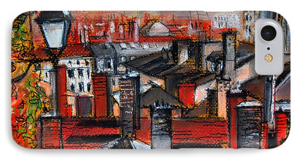 Over The Roofs IPhone Case by Mona Edulesco