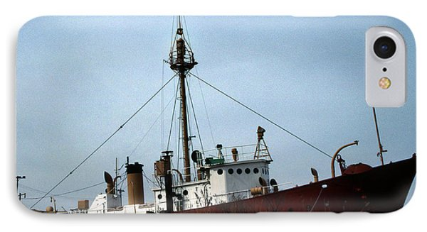 Overfalls Lightship Phone Case by Skip Willits