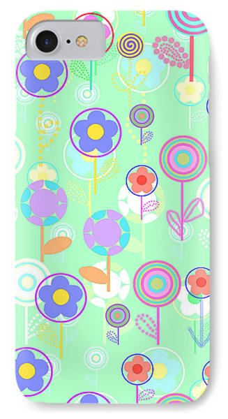 Overlayer Flowers  Phone Case by Louisa Knight
