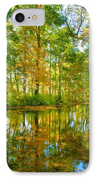 Owens Creek In Autumn I IPhone Case by Steven Ainsworth