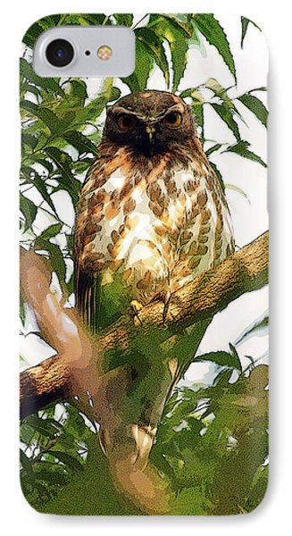 IPhone Case featuring the digital art Owl In Contemplation by Pravine Chester