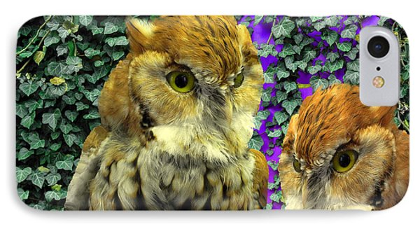 Owl Look Phone Case by Lynda Lehmann