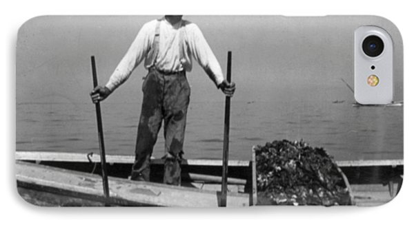 Oyster Fishing On The Chesapeake Bay - Maryland - C 1905 IPhone Case by International  Images