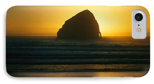 IPhone Case featuring the photograph Pacific City Sunset by Chriss Pagani