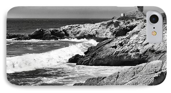 Pacific Lifeguard View In Bw Phone Case by John Rizzuto
