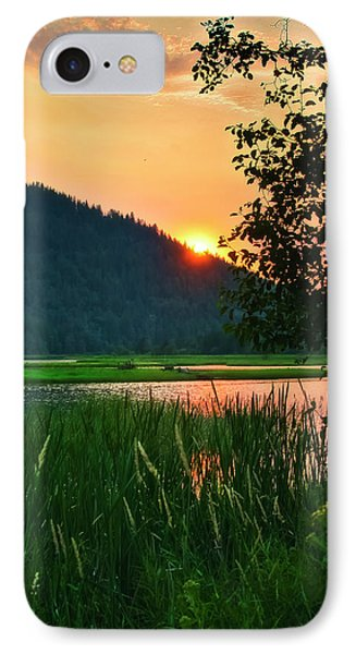 Pack River Delta Sunset 2 IPhone Case by Albert Seger