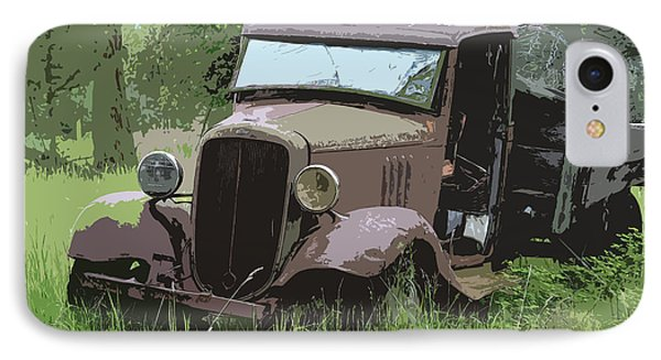 Painted 30's Chevy Truck Phone Case by Steve McKinzie