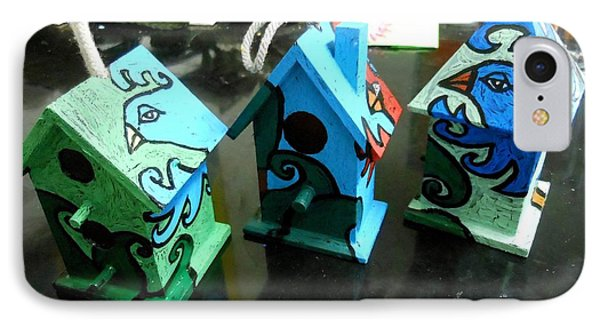 Painted Birdhouses Phone Case by Genevieve Esson