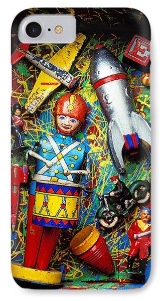 Painted Box Full Of Old Toys Phone Case by Garry Gay