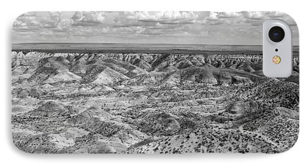 Painted Desert In B And W Phone Case by Melany Sarafis