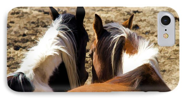 Painted Horses IIi IPhone Case by Angelique Olin