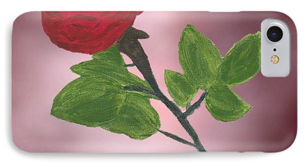 Painted Rose Phone Case by ChelsyLotze International Studio