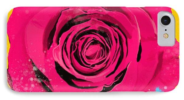 Painting Of Single Rose Phone Case by Setsiri Silapasuwanchai