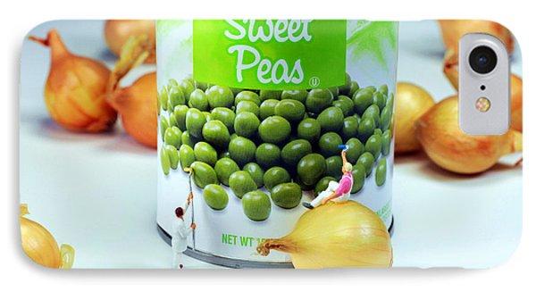 Painting Sweet Peas Poster Phone Case by Paul Ge