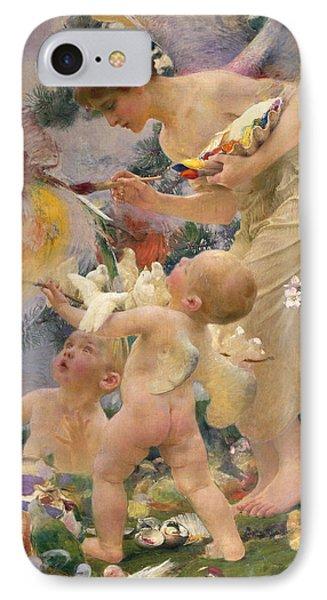 Painting The Birds Phone Case by Franz Dvorak