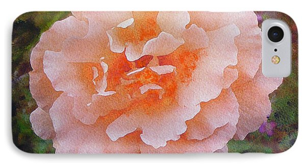 IPhone Case featuring the painting Pale Orange Begonia by Richard James Digance