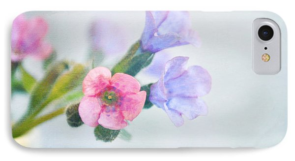 Pale Pink And Purple Pulmonaria Flowers Phone Case by Lyn Randle