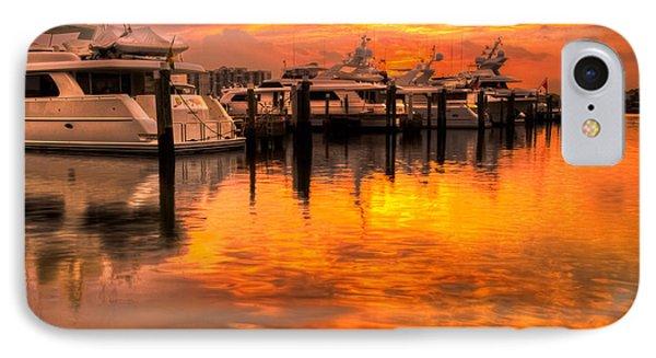 Palm Beach Harbor Glow Phone Case by Debra and Dave Vanderlaan