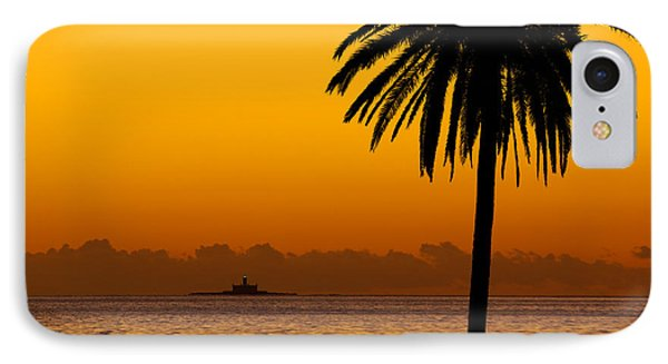 Palm Tree Sunset Phone Case by Carlos Caetano