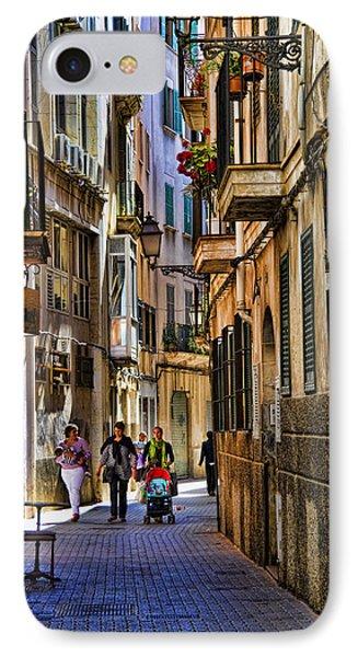 Palma Mallorca Street Scene Phone Case by David Smith