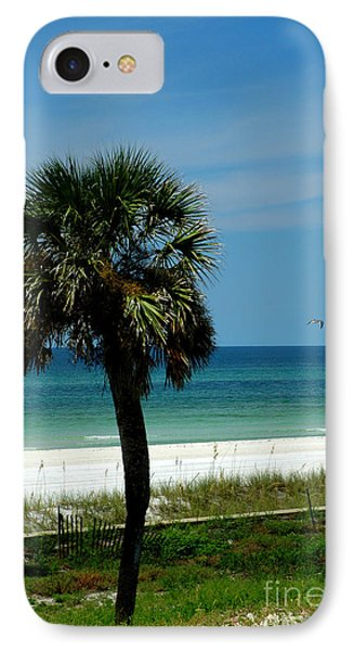 Palmetto And The Beach Phone Case by Susanne Van Hulst