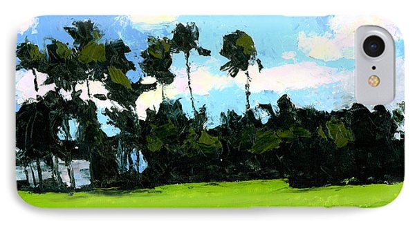 Palms At Kapiolani Park Phone Case by Douglas Simonson
