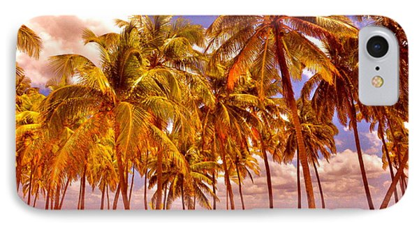 Palms On Half Moon Caye II  Phone Case by Valerie Rosen