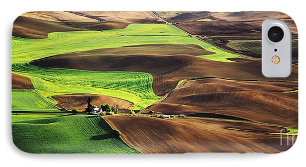 Palouse Farm Country Phone Case by Dennis Flaherty and Photo Researchers