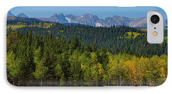 Panorama Scenic Autumn View Of The Colorado Indian Peaks Phone Case by James BO  Insogna
