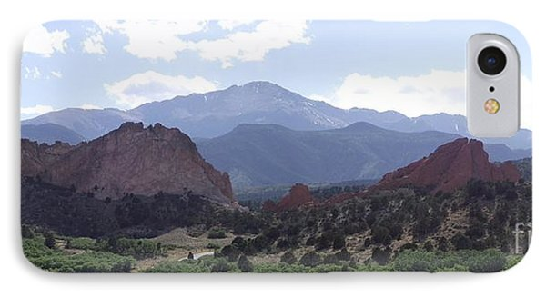 Panoramic Garden Of The Gods IPhone Case
