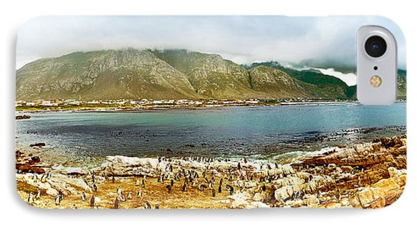 Panoramic Landscape With Penguins Phone Case by Anna Om