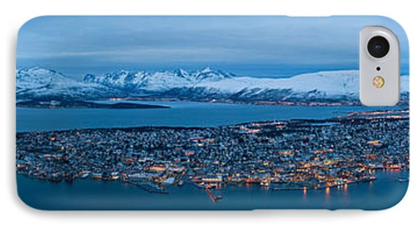Panoramic View Of Tromso In Norway  Phone Case by Ulrich Schade