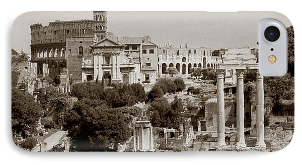 IPhone Case featuring the photograph Panoramic View Via Sacra Rome by Tom Wurl