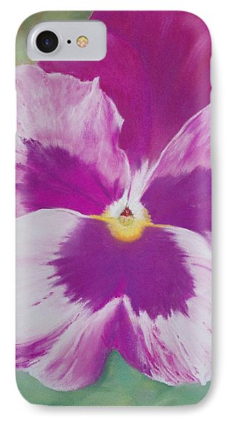 Pansy I Phone Case by Loueen Morrison